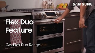 01. How to use the Flex Duo feature on your oven for two different temperatures | Samsung US