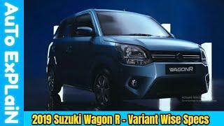 2019 Maruti Suzuki Wagon R Variant Wise Specifications - No Dual Airbag?