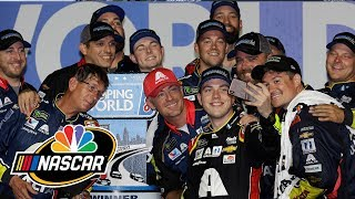 Alex Bowman makes up for lost time with celebration | Motorsports on NBC