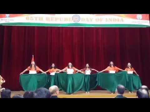 Colours of India Group Dance  Revival Vande Mataram & Instrumental fusion
