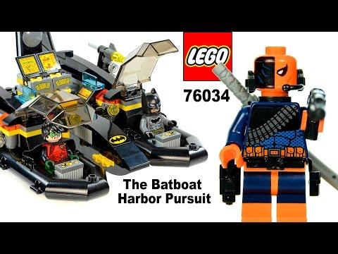 LEGO The Batboat Harbor Pursuit 76034 w/ Batman Robin & Deathstroke Set Review