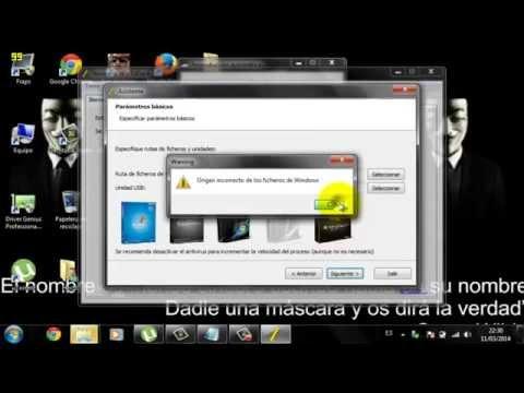 Como bootear Un Pen driver Para instalar windows (2014)