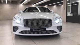 2019 Continental GT in Ice with Linen & Cricket Ball