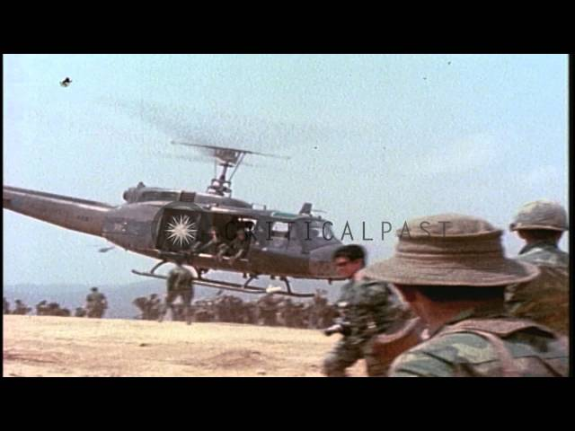 ARVN soldiers being extracted following Operation Lam Son 719 in Laos during the ...HD Stock Footage