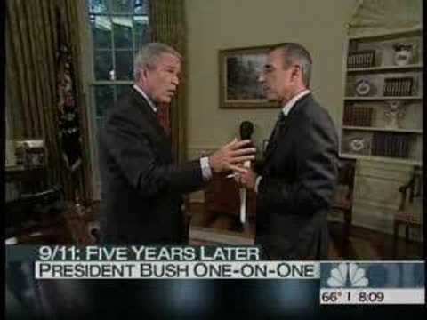 Bush goes nuts on matt lauer
