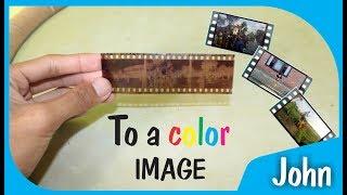 #Kamera analog, Cara merubah film klise (jadul) ke dalam foto berwarna  (modern)
