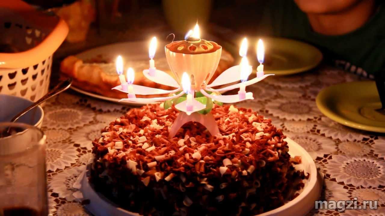 Красивая свеча на торт своими руками 3