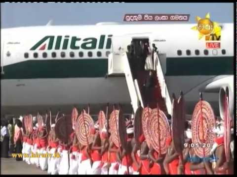 Pope Francis Arrives in Sri Lanka #popeinsl - www.hirutv.lk