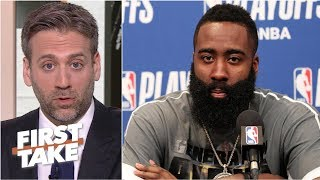 James Harden has replaced Peyton Manning as the 'choker' in postseason - Max Kellerman | First Take