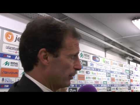 "Massimiliano Allegri: ""Sind keine Computer"" | Chievo Verona - Juventus Turin 0:1"