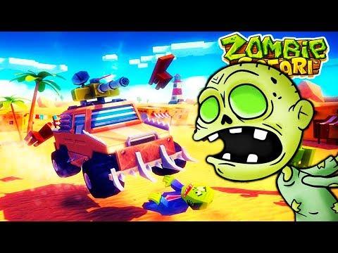 Безумные тачки против Зомби #2 уничтожаем и сбиваем зомби в веселом видео для детей про машины
