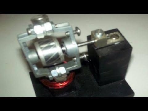 Dc pulse motor homemade from small ac fan motor housing for Small dc fan motor