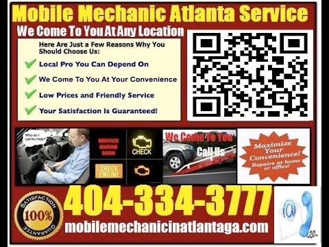 Mobile Auto Mechanic Stonemountain 404-334-3777 Georgia Car Repair Service