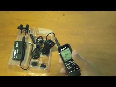 Microfone de Lapela Yoga e Gravador de Voz Sony - [Pesca Vídeos]