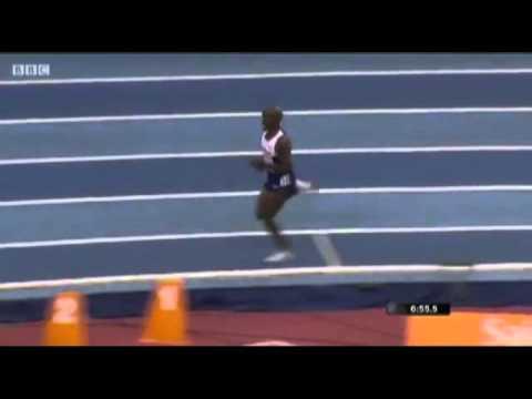 Mo Farah 2-mile World Record Slow Motion  2015
