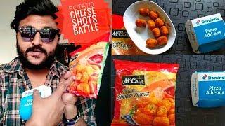 Domino's Potato Cheese VS McCain Potato cheese Shotz 🔥|| Potato Cheese Shots Battle 🔥||