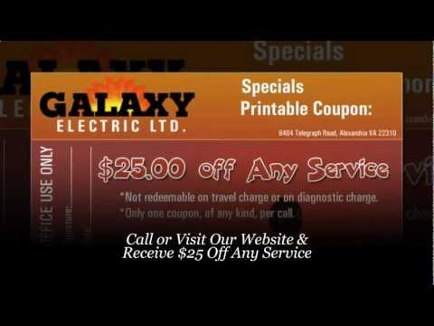 Electrician Germantown MD - Receive $25 Coupon: Galaxy Electric (301) 840-0584