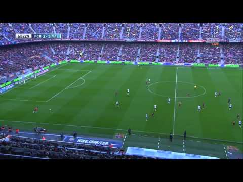 FC Barcelona vs Valencia CF 2-3 Full Second Half in HD La liga (MediaPro)
