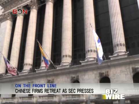 Chinese firms retreat as SEC presses - Biz Wire - January 18,2013 - BONTV China