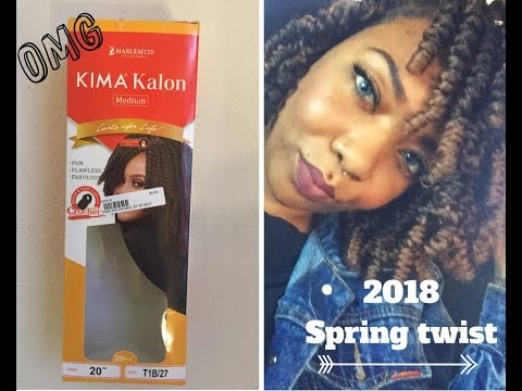 "3-2018 Review : Spring Twist using kimakalon crochet hair 20""inches😒😱by Harlem125"