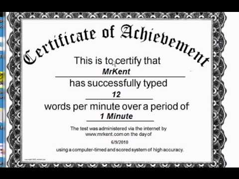free online typing test certificate