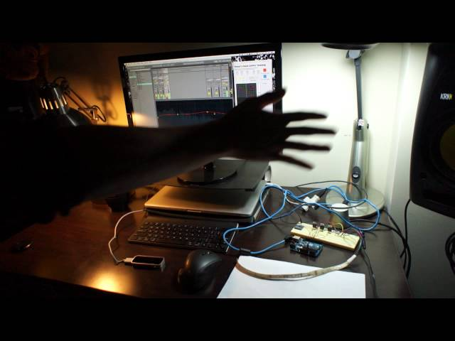 LEAP Motion Dubstep with Arduino controlled RGB LED's
