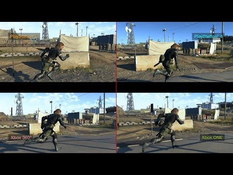 METAL GEAR SOLID V: GROUND ZEROES - Current Gen/Next Gen comparisons