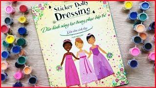 Đồ chơi dán hình trang điểm váy đầm búp bê tập 20 Phù dâu xinh đẹp Sticker dolly dressing(Chim Xinh)