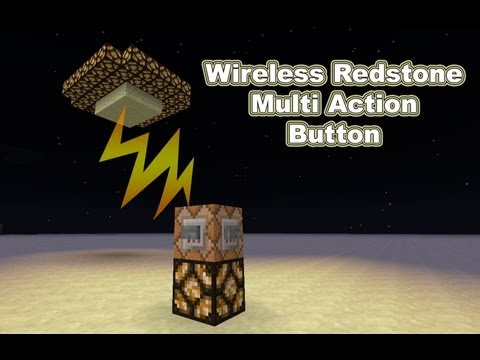 How to make a Wireless Redstone On / Off switch in Vanilla Minecraft 1.5!!