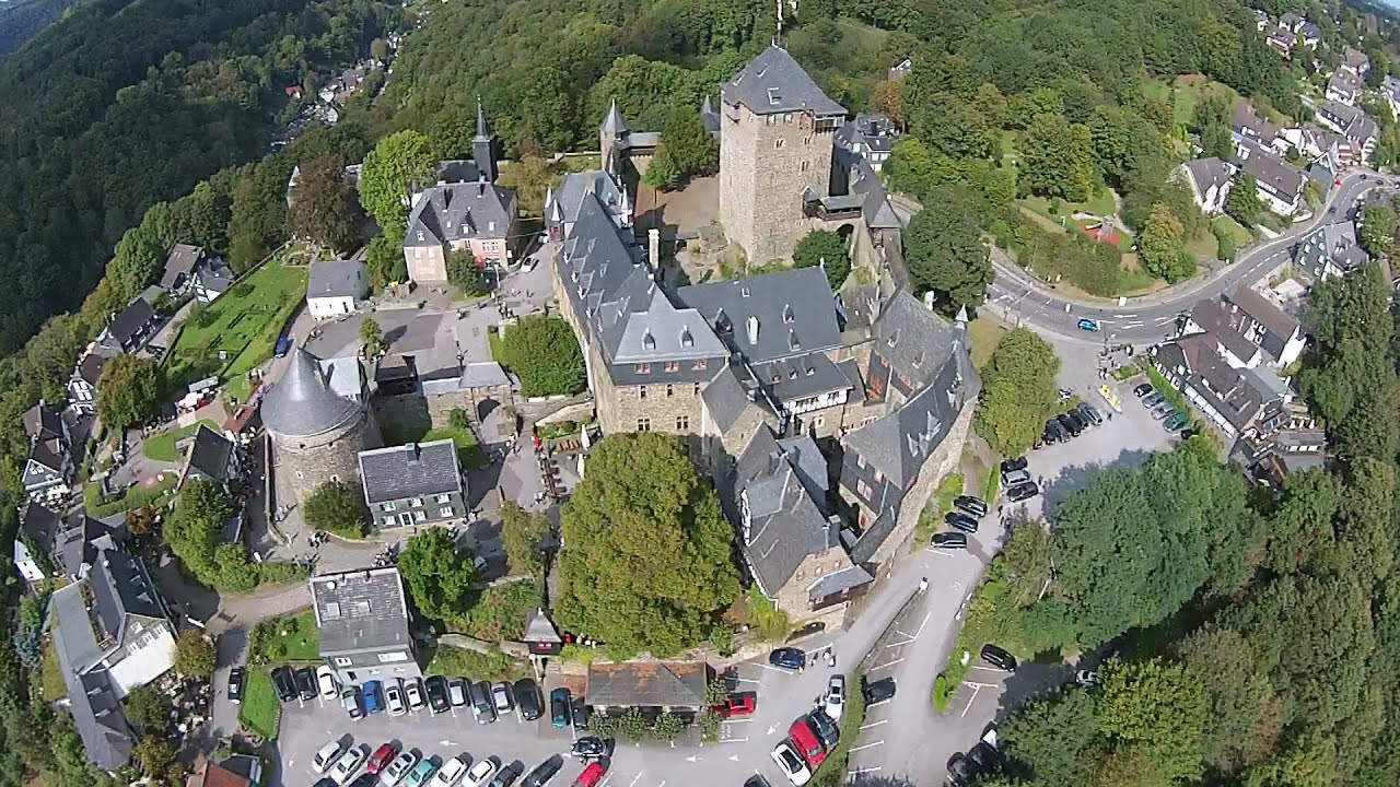 Solingen Germany  city photos gallery : Schloss Burg Castle Solingen Germany Aerial Video YouTube