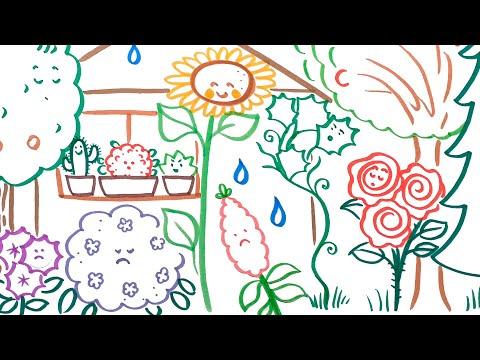 Rajzos mese: Várfalvy Emőke: Egy nyári nap a kertben
