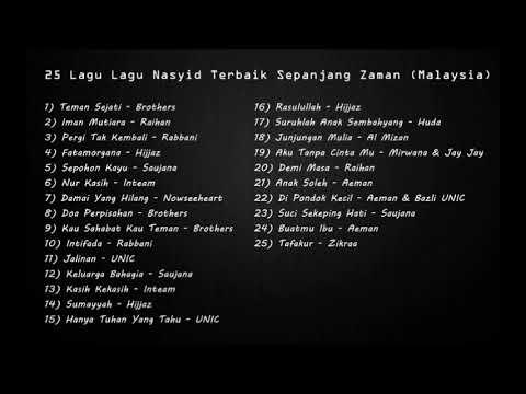Download  Koleksi Album - 24 Lagu Lagu Nasyid Terbaik Sepanjang Zaman Malaysia Gratis, download lagu terbaru