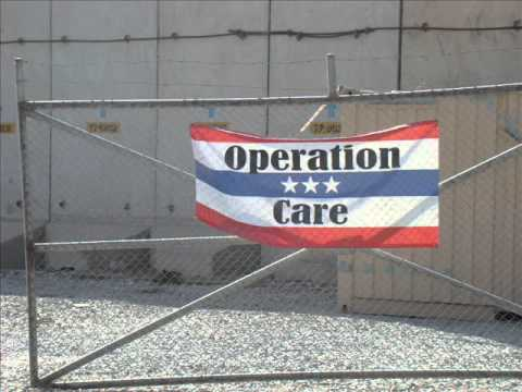 Bagram Air Field Afghanistan. Signs of WAR