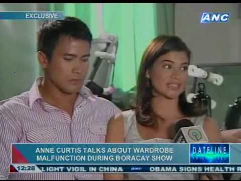 Anne Curtis talks about the wardrobe malfunction during Boracay show