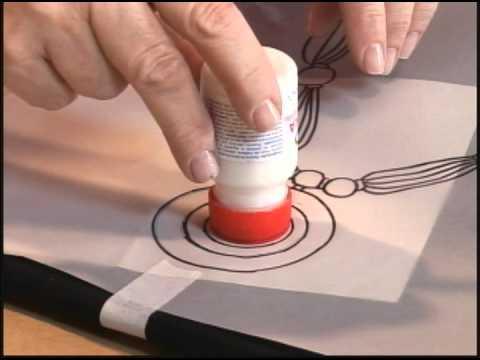 Pintura em tecido com tinta Puff