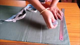 MARKING AND CUTTING OF SIMPLE KURTI
