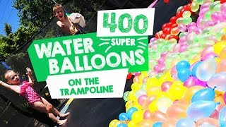 400 Water Balloons On A Trampoline! - with This Mum At Home Australian Mummy Vlogger Blogger