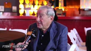Bob Arum on making Pacquiao Bradley 3, appalled by Donald Trump, Roy Jones scared of earthquakes
