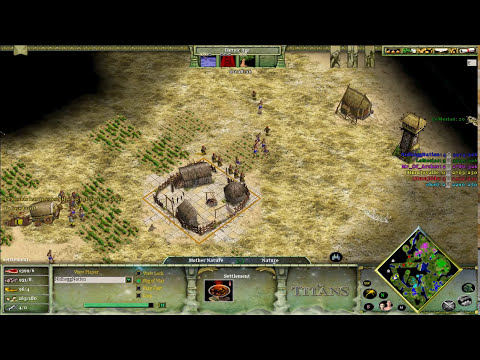 Age of Mythology: Titans | 3v3 Oranos on Savannah