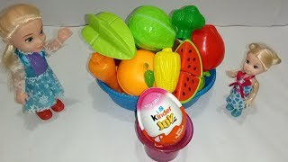 LEARN Names of fruits and vegetables whit Kinder joy gift