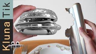 FOIL ball BURGER for lunch! Kluna Tik Dinner  ASMR sounds no talk Papel aluminio bola ,アルミホイルボール