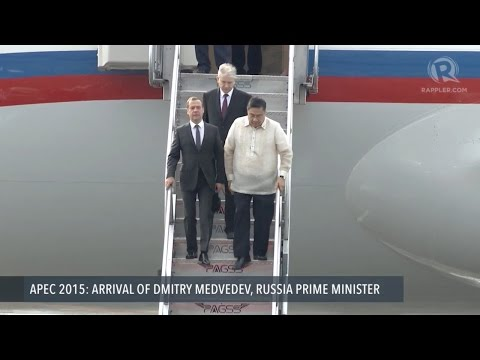APEC 2015: Arrival of Dmitry Medvedev, Russia Prime Minister