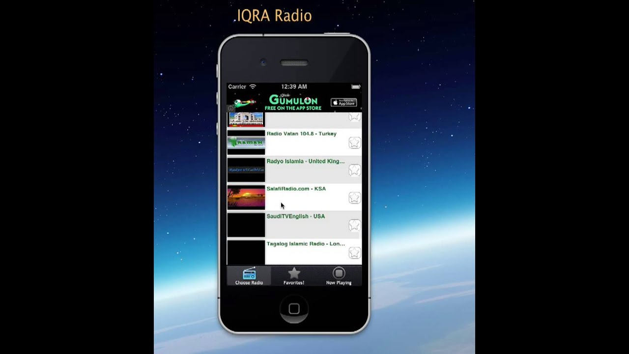 IQRA Islamic Radio app for free! Radio app - YouTube
