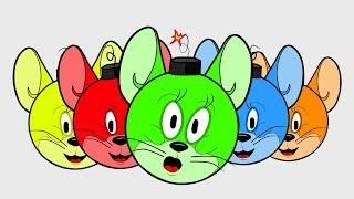 JERRY - Tom and Jerry!  Learn NEW Colors! - Learn Colors for Children