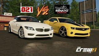 THE CREW 2: CAMARO DO RENATO GARCIA VS BMW Z4 DO MAIKI021!!