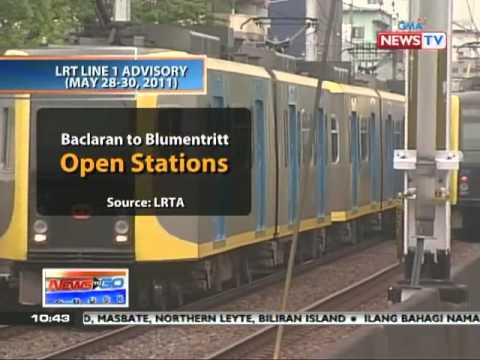 News to Go - LRT 1, 2 extend operating hours during May 25 - 27  - 5/26/11