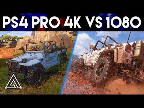Uncharted 4 PS4 Pro 4k vs 1080p Gameplay
