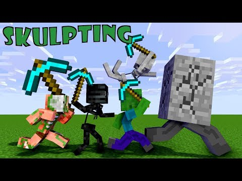 Monster School: Sculpting - Minecraft Animation