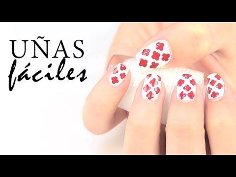 Dise os de u as f ciles y r pidos nails art youtube - Disenos de unas con mariposas faciles ...