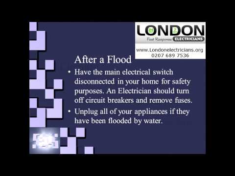 London Electrician | Flood Electrical Safety | Electricians in London